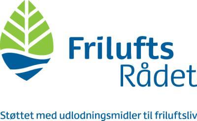Logo Friluftsrådet støttet af Udlodningsmidler til Friluftsliv